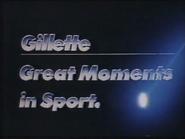 Four Network sponsor billboard - Gillette Moments in Sport - 1990