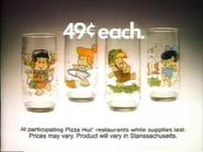 Pizza Hut Flintstone Kids Glasses TVC - 3-25-1987 - 1