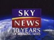 Sky News 10 years ID 1999
