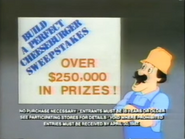 Build A Perfect Cheeseburger contest TVC - 3-25-1987 - 1