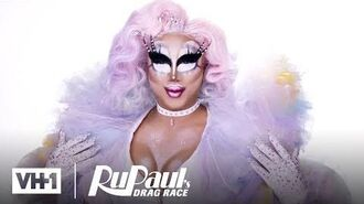 Rock M. Sakura's Pastel Tulle Look Makeup Tutorial RuPaul's Drag Race