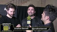 """Jonathan Bennett & Jaymes Vaughn on the Red Carpet of the premiere of """"AJ & The Queen"""""""
