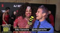Silky Ganache on the Red Carpet of the AJ and The Queen Premiere in Hollywood