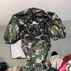 Unaired Camo Couture Look