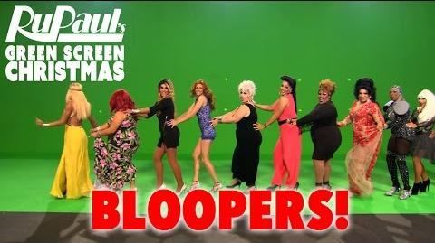 RuPaul's Green Screen Christmas Bloopers