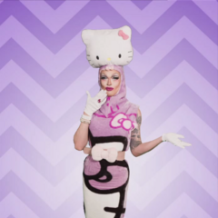Hello Kitty Couture Look