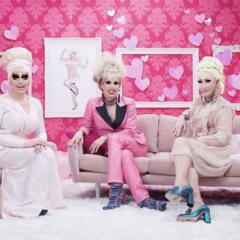 Trixie Mattel, Katya, and Detox on the set of <i>Trixie's Playhouse</i>