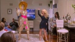 Got to be real - AJ and the Queen Rupaul (in drag) and Jane Krakowski