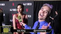Isis King on the Red Carpet of AJ and The Queen Premiere in Hollywood