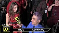 Izzy G on the Red Carpet Premiere of AJ and The Queen in Hollywood