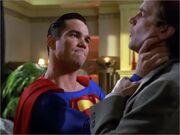 Superman confronting Tempus