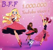 B.F.F. 1.000.000 YouTube views