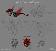 Образец модели Дракона из Чёрного Кристалла