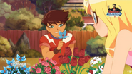 Nathaniel gives Iris a Flower