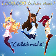 Celebrate набрал 1000000 просмотров на YT