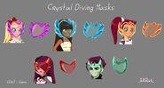 Образцы моделей Кристальных масок для дайвинга