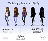 Talia's stage outfits 2