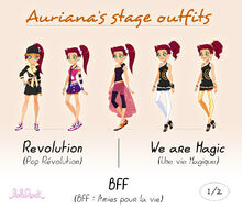 Auriana stage outfits - 1