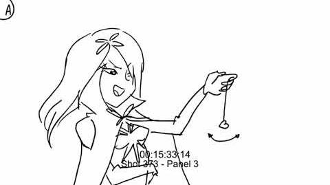 Christelle Abgrall - Storyboard - Lolirock - Fight sequence