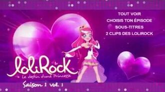 Lolirock Saison 1 Volume 1 Menu DVD Français