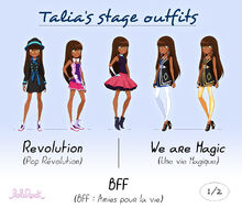 Talia stage outfits - 1