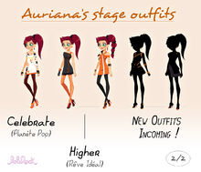 Auriana stage outfits - 2
