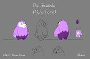 Образец модели Снампла в милой форме