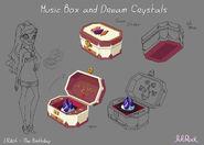 Образец моделей Снотворных Кристаллов и Музыкальной шкатулки
