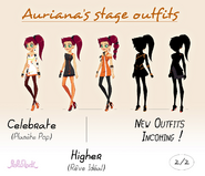 Auriana's stage outfits 2