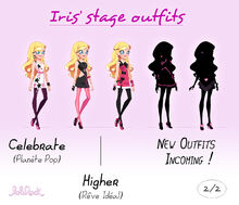 Iris stage outfits - 2