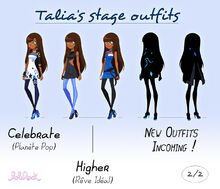 Talia stage outfits - 2