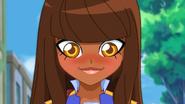 Talia blushing