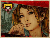 Lollipop chainsaw calender art