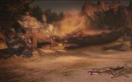 A destroyed Vikke Ship