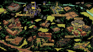 San Romero blank map