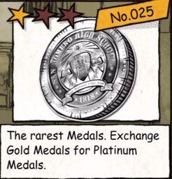 Platinum medals