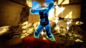 Blue Headless Zombie Minigame