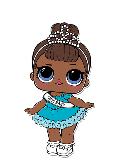 MISS BABY glam CLUB SERIES 2 COLOR CHANGE doll LOL Surprise LiL Sisters L.O.L