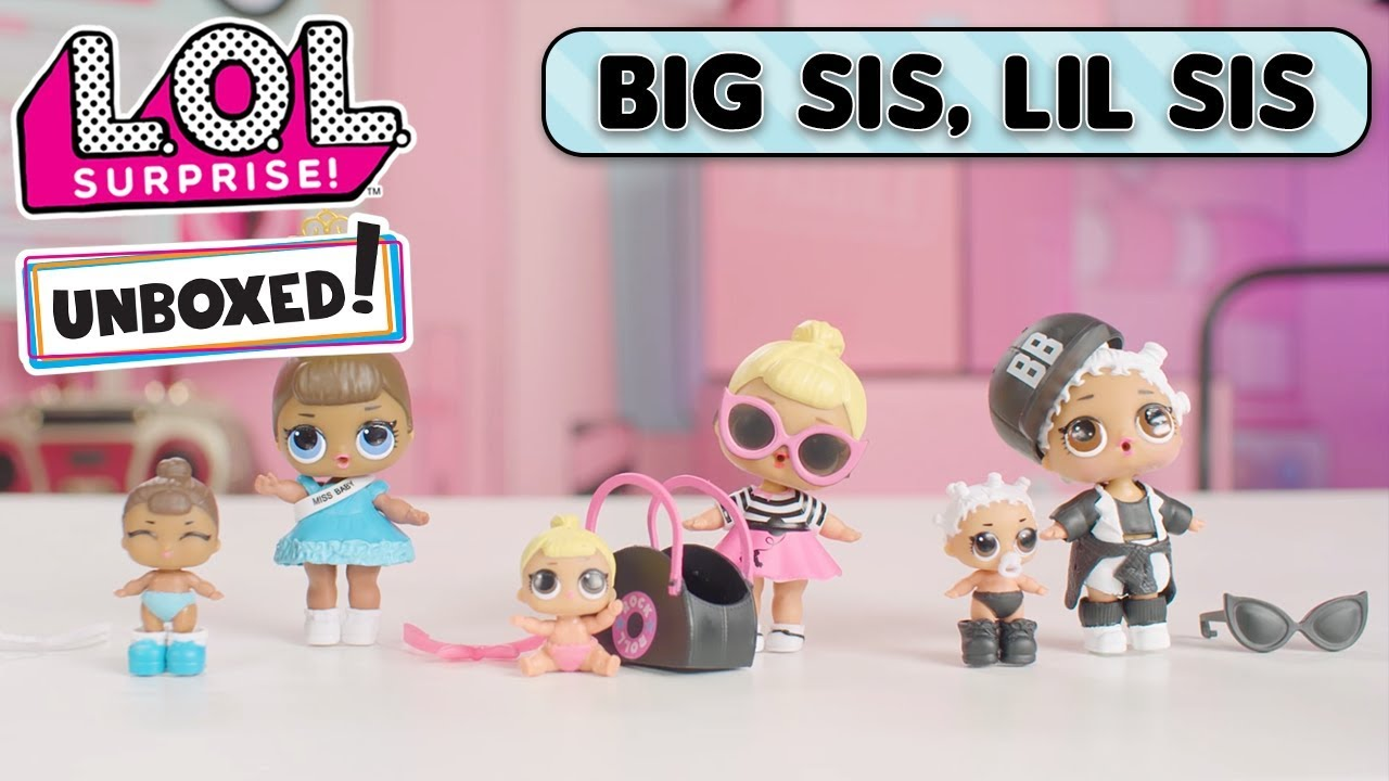 PET LIL /& BIG SISTER LOL Surprise LiL Sisters L.O.L NEON Q.T SERIES 2 dolls