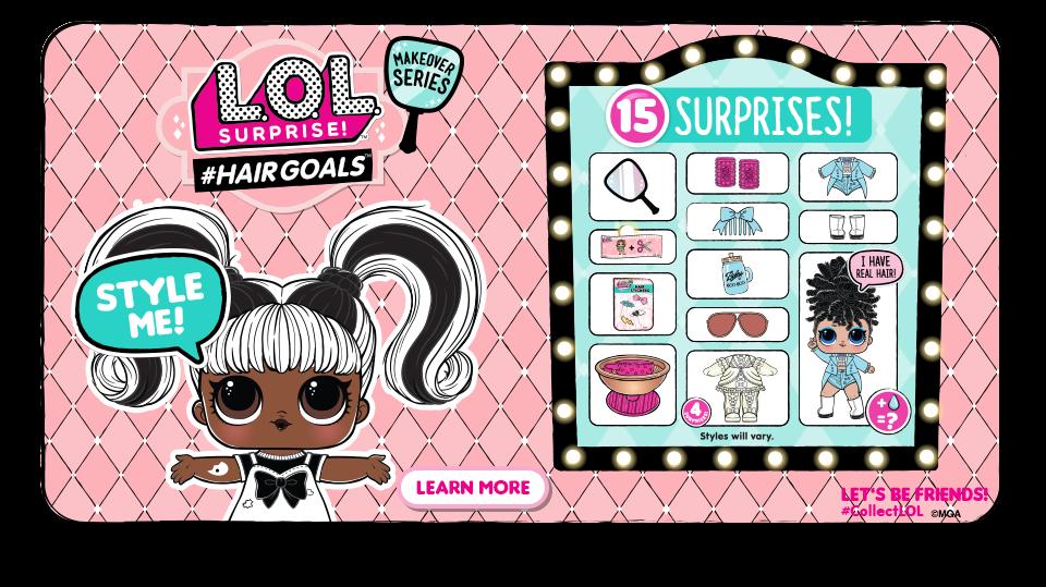 L.O.L Surprise! #Hairgoals Makeover Series with 15 Surprises