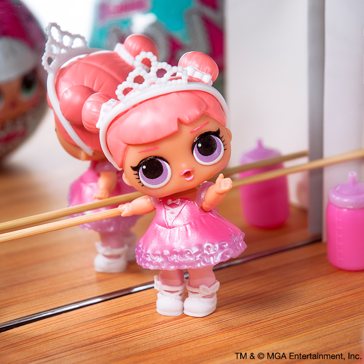 lol doll Big Sister GLITTER Series G-003 FANCY With Pink Bow white Pink Dress
