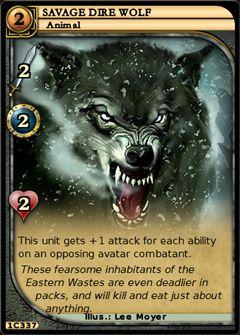 Savage Dire Wolf full card