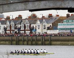 Boat Race at Barnes Bridge 2003 - Oxford winners