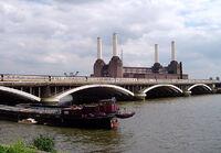 Grosvenor Bridge, River Thames, London, England