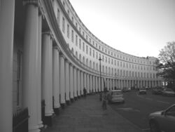 Park Crescent at London (B&W)