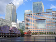 Canary Wharf buildings image