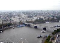 Waterloo Bridge, River Thames, London, England, Nov04