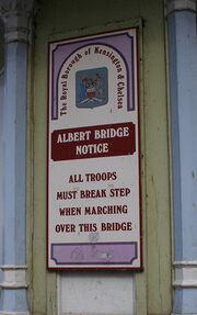 Albert Bridge Sign