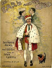Cover of the Vocal Score of Seymour Hicks' The Earl and the Girl