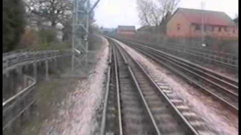 RUISLIP DEPOT TO LOUGHTON ENGINEER'S TRAIN CAB VIEW